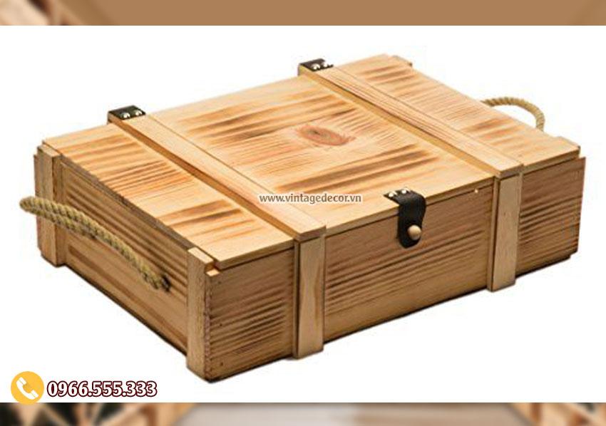 Mẫu hộp đựng rượuđơn giản HDR03