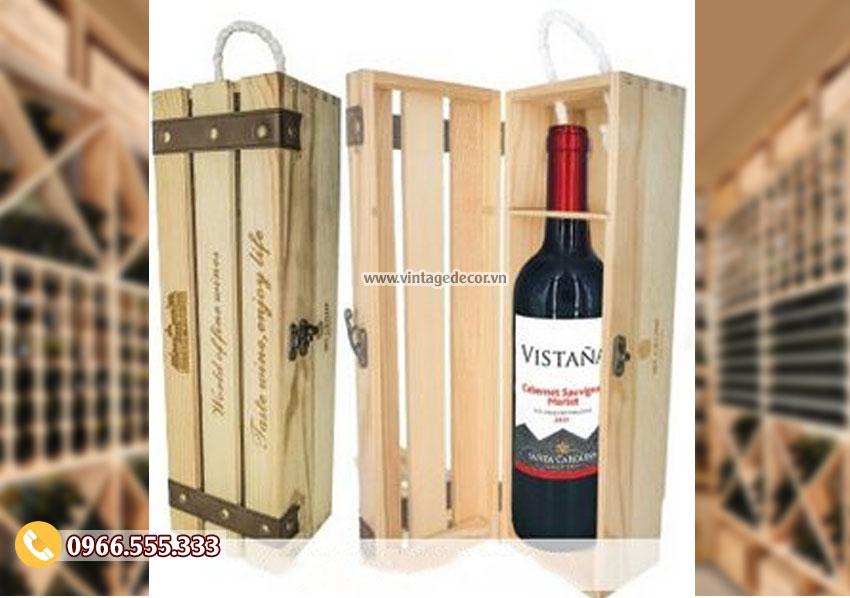 Mẫu hộp đựng rượu gỗ tại hà nội HDR55