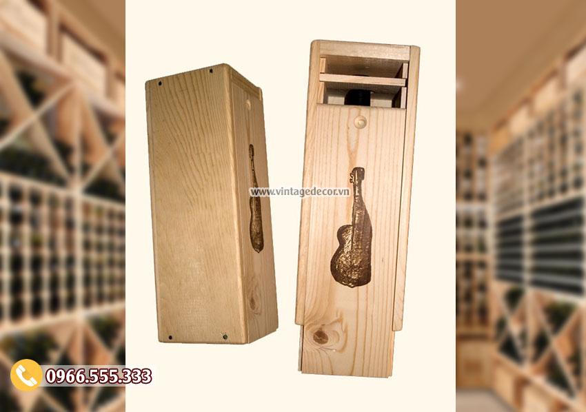Mẫu hộp gỗ dựng rượu mini đẹp HDR06