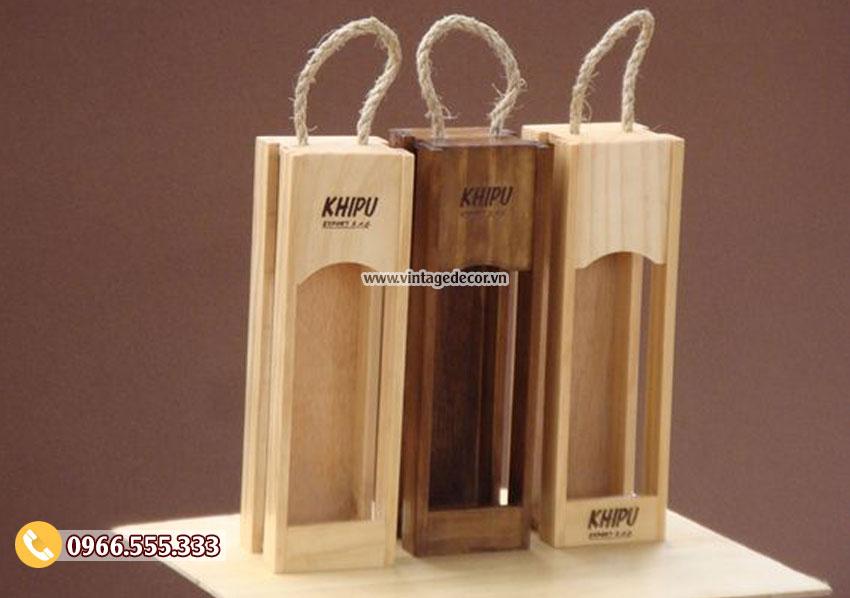 Mẫu hộp đựng rượuvang bằng gỗ HDR64