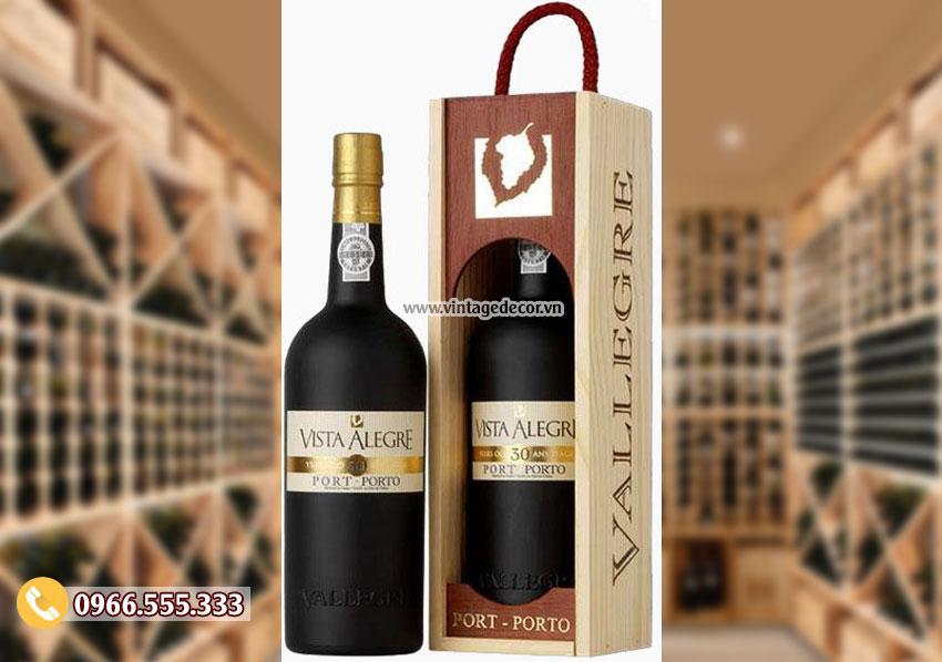 Mẫu hộp đựng rượu gỗ thông mini đẹp HDR09