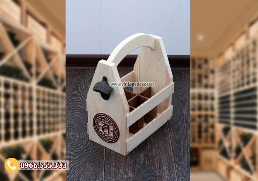 Mẫu hộp gỗ đựng rượuvang HDR68