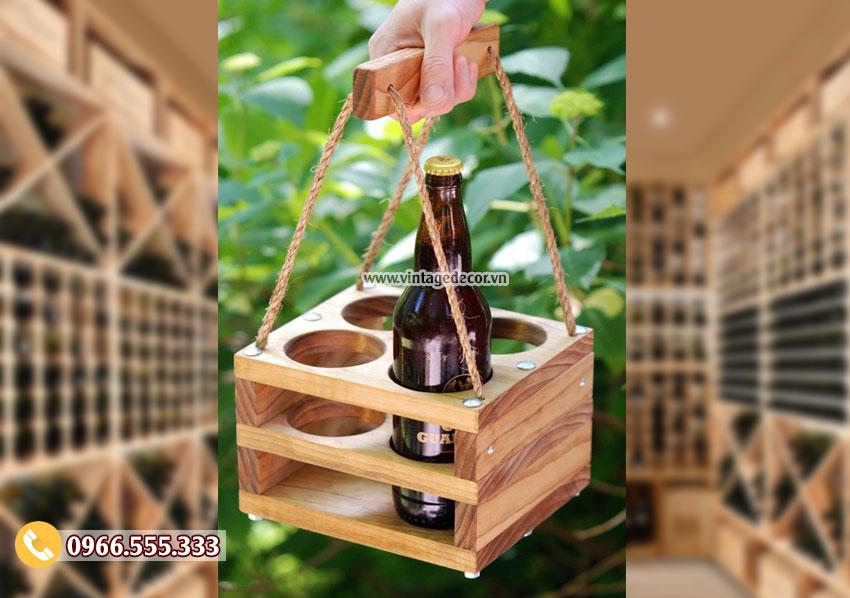 Mẫu hộp gỗ đựng rượu vang đẹp HDR73