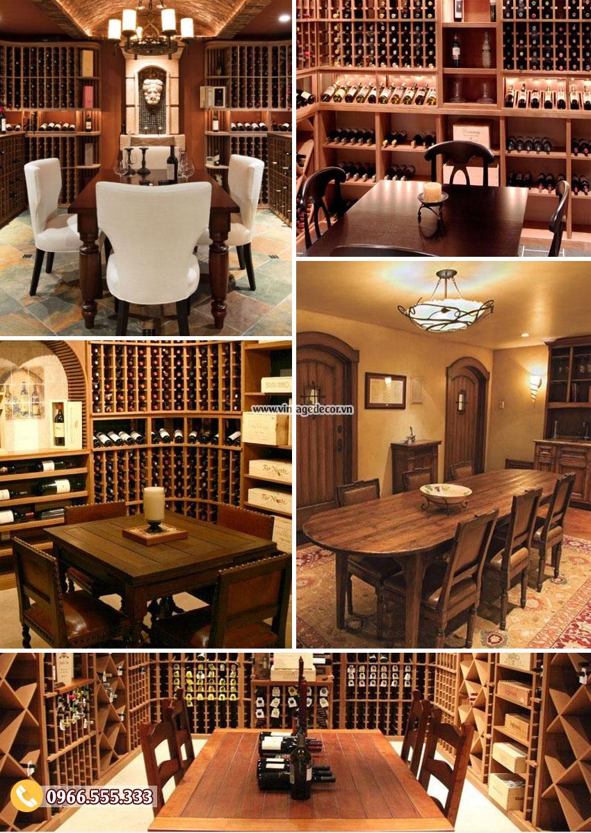 So sánh kiểu dáng hầm rượu hiện đại so với hầm rượu truyền thống