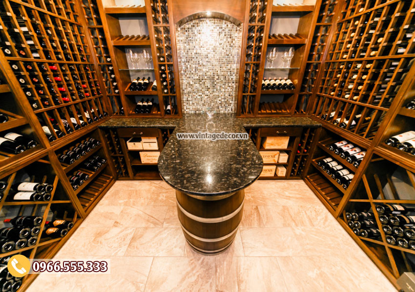 Thiết kế hầm rượu sang trọng 2019 tại hà nội