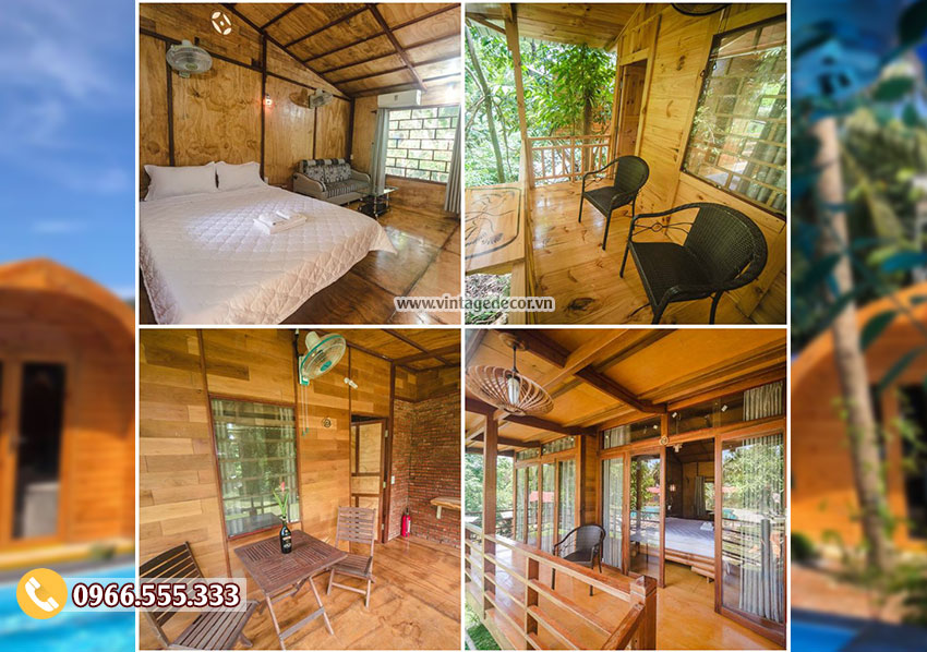 Mẫu nội thất bungalow homestay NB10