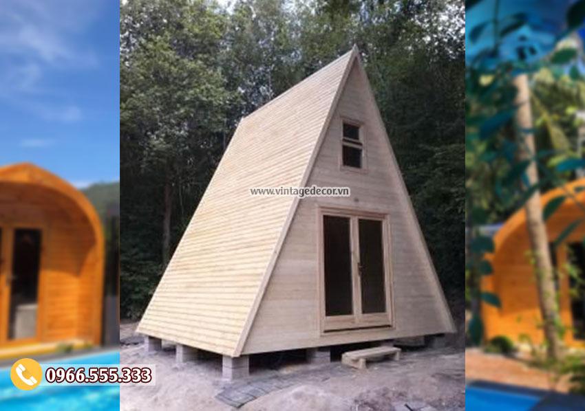 Mẫu nhà gỗ thông mái thái bến rừng NB11