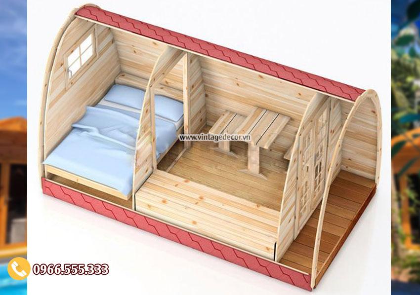 Mẫu bản vẽ thiết kếbungalow homestay NB13