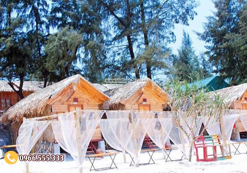 Mẫu thiết kế nhà gỗ khu du lịch bãi biển NB22