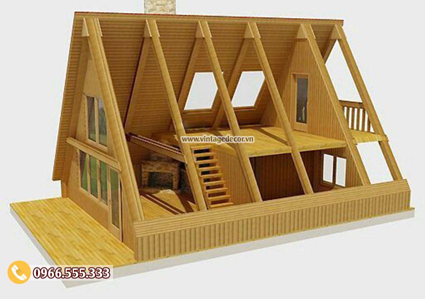 Mẫu bản vẽ thiết kế bungalow mái thái NB24