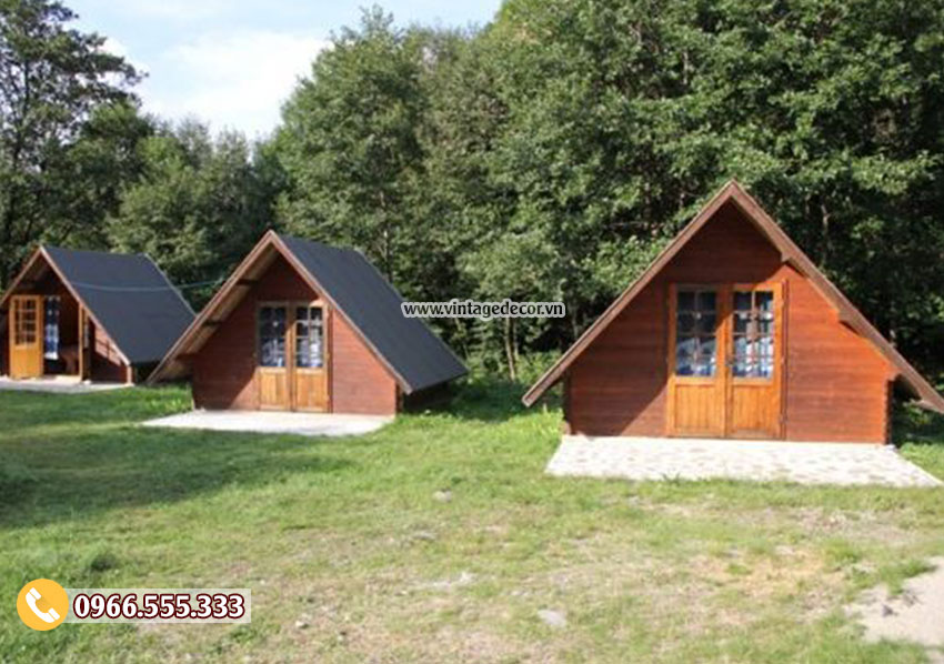 Mẫu bungalow mái hiên thấp bến rừng NB42