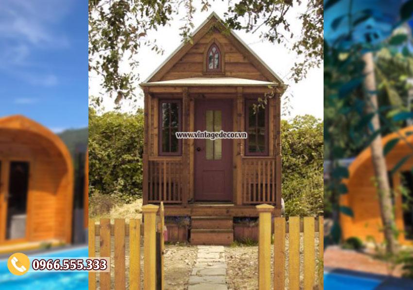 Mẫu nhà gỗ phong cách cổ điển NB43