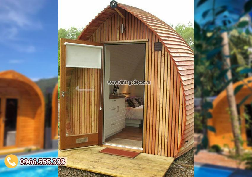 Mẫu nhà gỗ thông phong cách hiện đại đẹp NB45