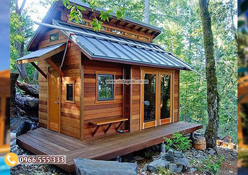 Mẫu thiết kế bungalow cấp 4 mái hiên thấp cổ điển NB30
