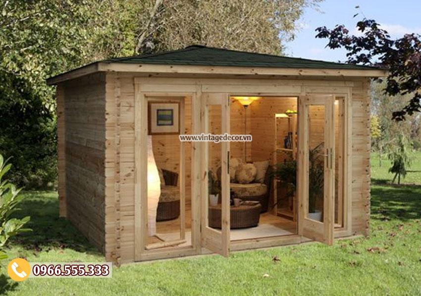Mẫu nhà gỗ di động thiết kế đơn giản NB48