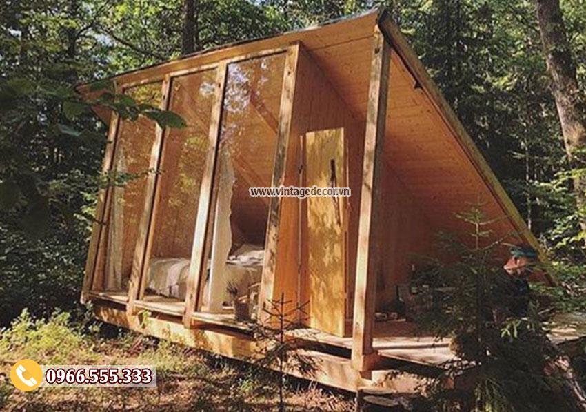 Mẫu thiết kế nhà gỗ chắc chắn bến rừng NB50
