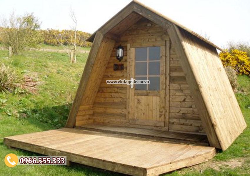 Mẫu nhà gỗ thông di động thông minh NB52