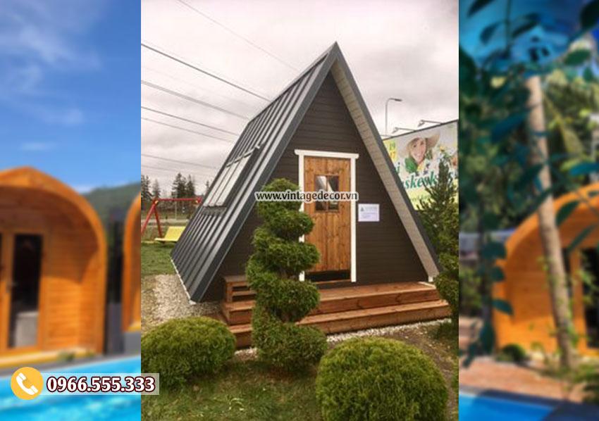 Mẫu thiết kế bungalow homestay khu vui chơi giải trí NB31