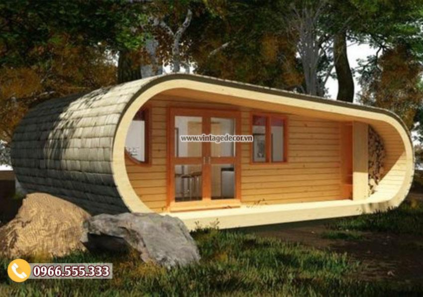 Mẫu nhà bằng gỗ thông homestay đẹp tại hà nội NB62
