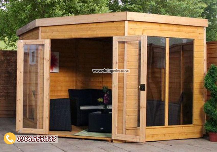 Mẫu thiết kếnhà gỗ kiểu resort di động thông minh NB61