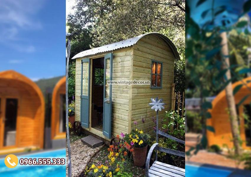 Mẫu thiết kế nhà gỗ homestay đơ giản NB68