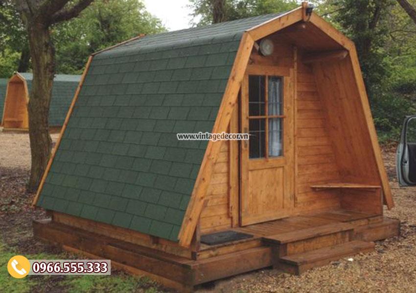 Mẫu nhà gỗ bungalow chắc chắn tại bến rừng NB70