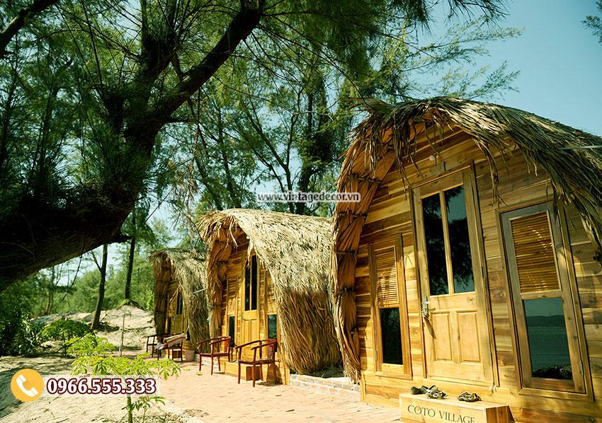 Mẫu nhà gỗ homestay hà nội NB75