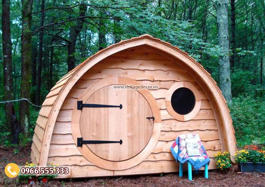 Mẫu homestay nhà gỗ bến rừng tại hà nội NB33