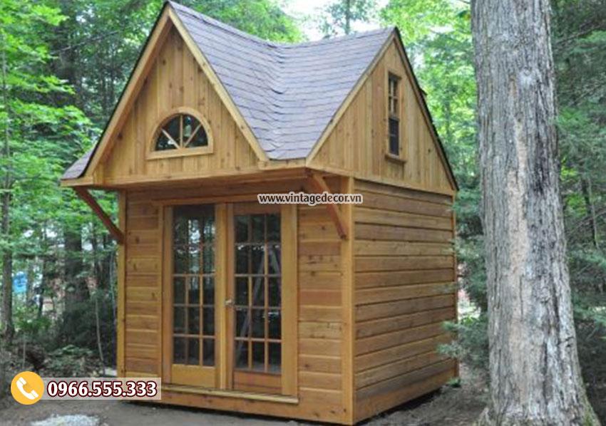 Mẫu nhà gỗ di động khu du lịch sinh thái bến rừng NB34
