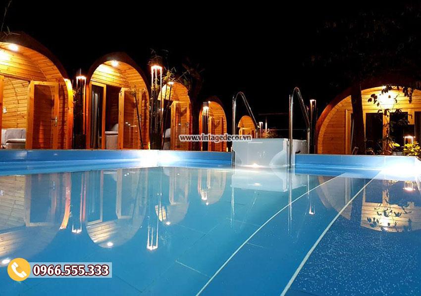 Mẫu bungalow phong cách resort khu du lịch sinh thái NB20