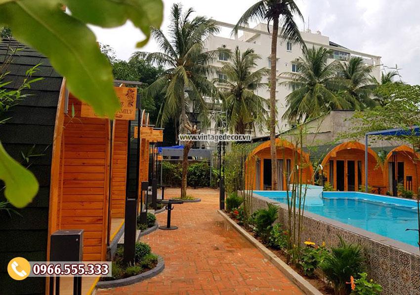 Mẫu thiết kếresort bungalow homestay mini NB15