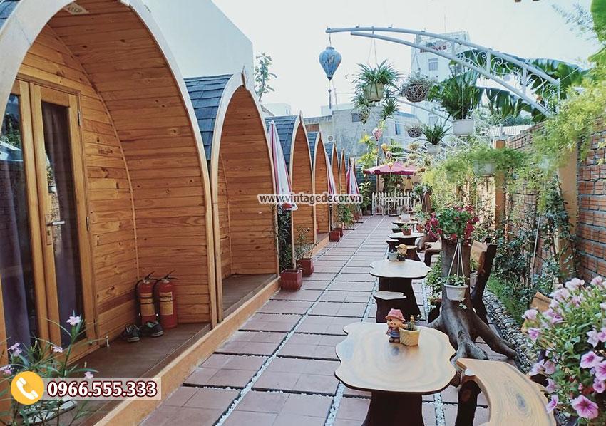 Mẫu nhà gỗ thông minh mái vòm đẹp NB23