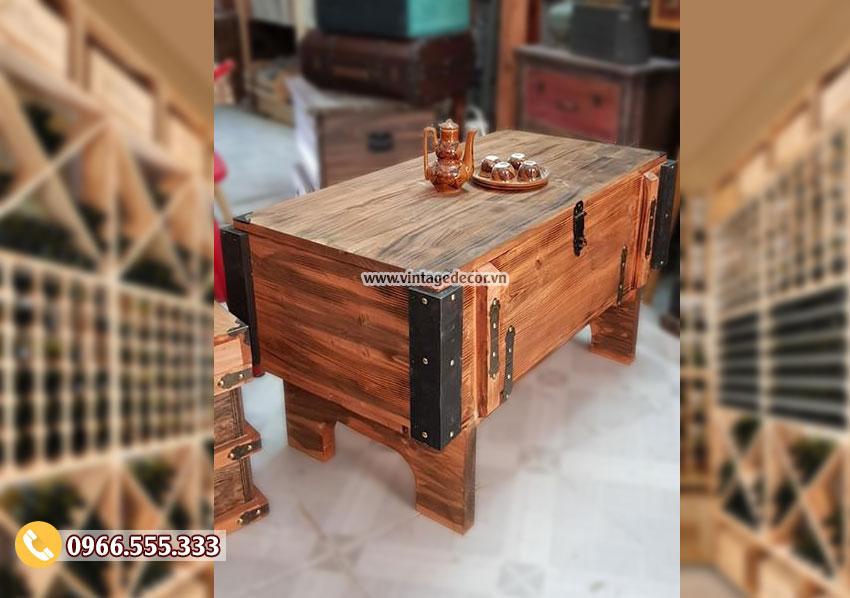 Mẫu bàn rương gỗ cổ điển đa năng RG93