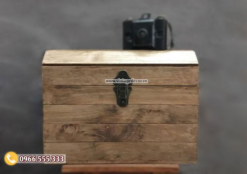 Mẫu rương gỗ thông đơn giản lưu trữ RG96