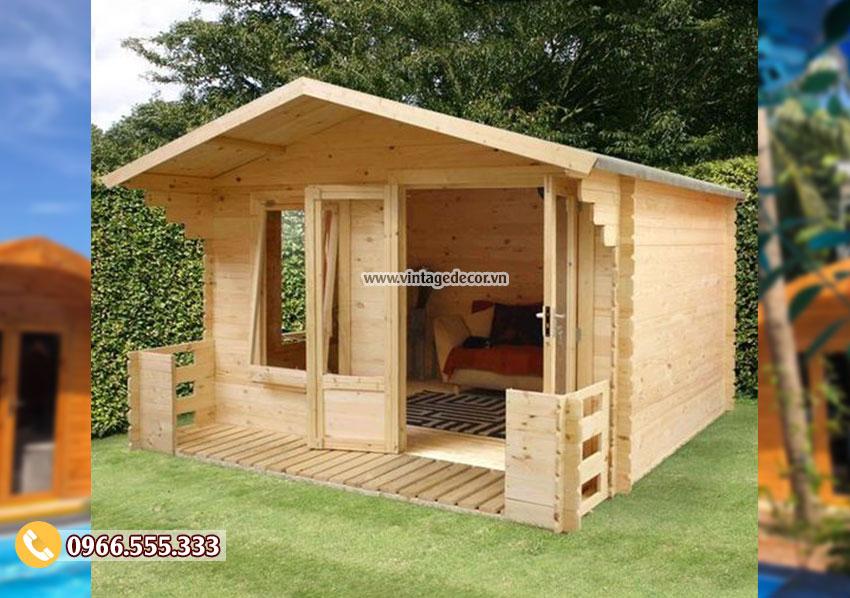 Mẫu thiết kế bungalow đơn giản trong vường NB77