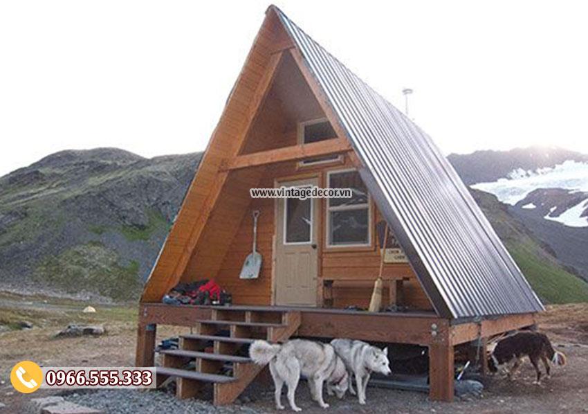 Mẫu thiết kế nhà đồ gỗ mái thái NB82