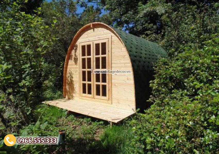 Mẫu thiết kế ngôi nhà gỗ bến rừng NB83