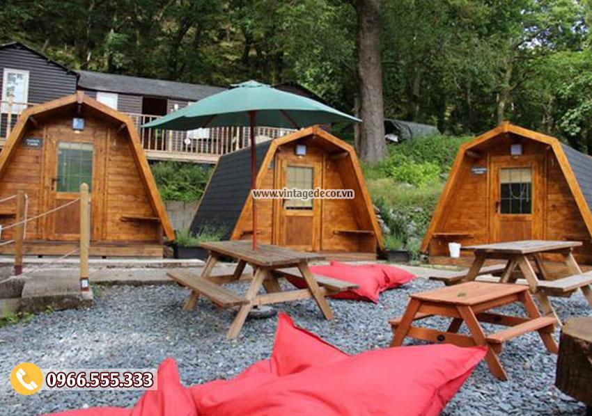 Mẫu thiết kế và thi công nhà gỗ cổ điển NB88