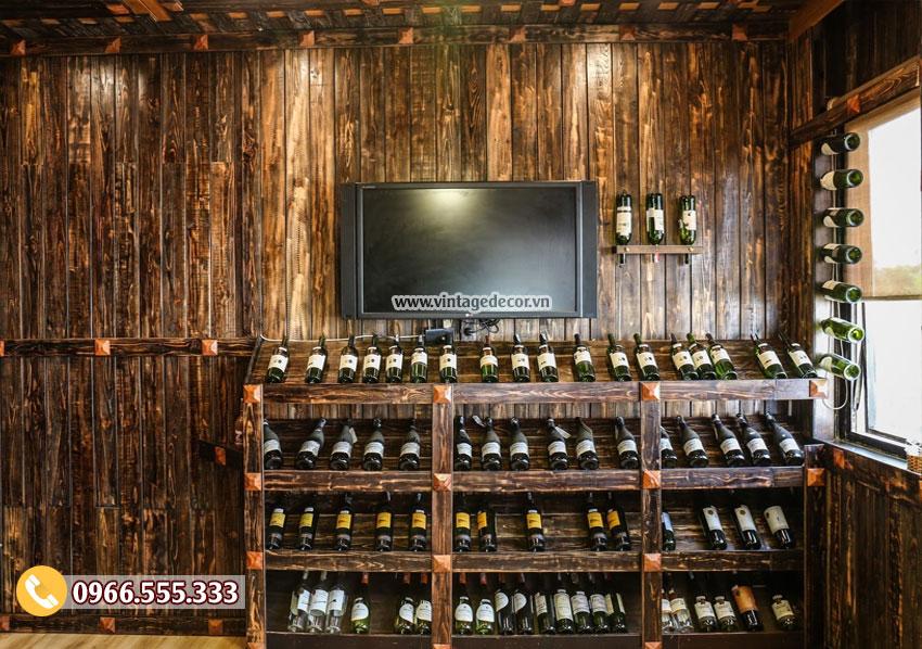 Thiết kế kệ rượu và cách đặt rượu để bảo quản rượu vang