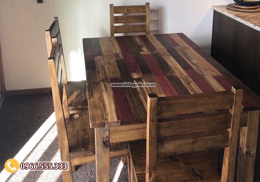 Mẫu bộ bàn ghế phòng ăn đẹp BG74