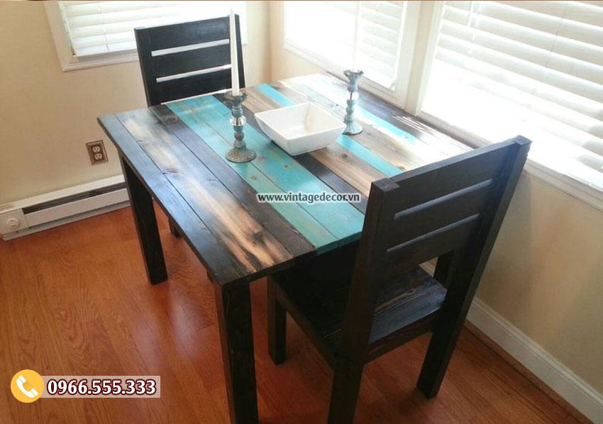 Mẫu bộ bàn ghế phòng ăn gỗ thông nhập khẩu BG75