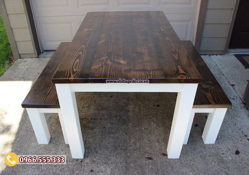 Mẫu bộ bàn ghế gỗ sồi đẹp BG79