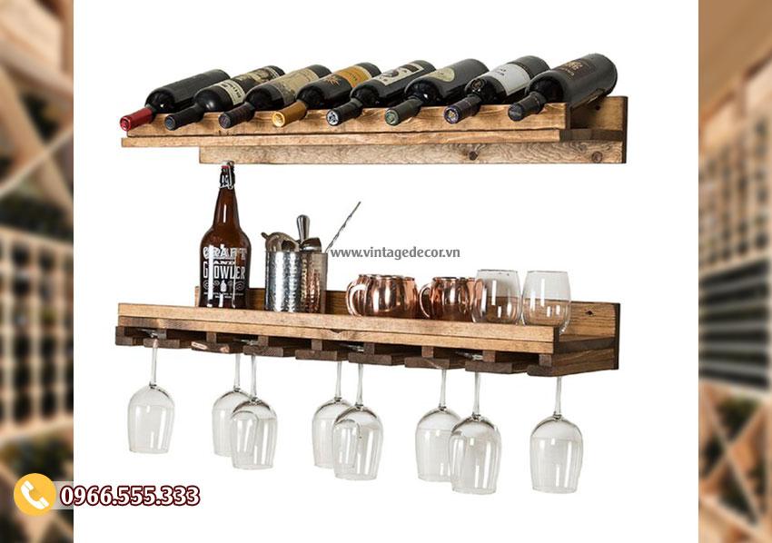 Mẫu kệ rượu vang treo tường TBR200