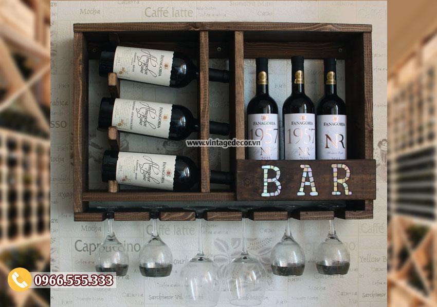 Mẫu kệ rượu vang phong cách cổ điển TBR213