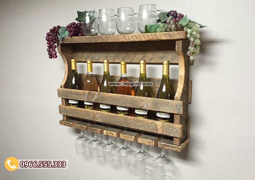 Mẫu kệ rượu vang treo tường đa năng TBR18