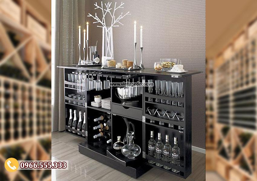 Mẫu tủ rượu trưng bày sang trọng TRV03