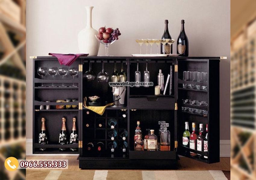 Mẫu tủ rượu gia đình đơn giản TRV08