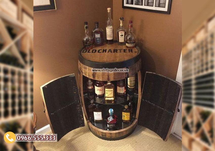 Mẫu tủ rượu gia đình sáng tạo TRV10