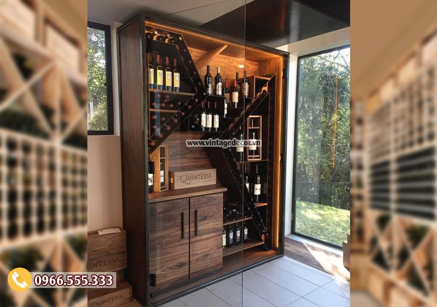 Mẫu tủ rượu gia đình đẹp sang chảnh nhất TRV11