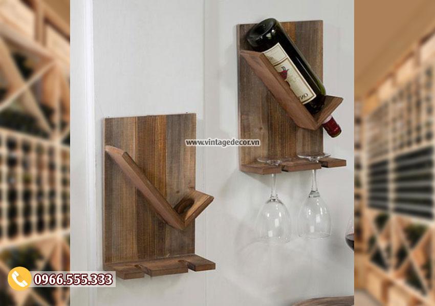 Kệ rượu treo tường đơn giản giá rẻ TBR210